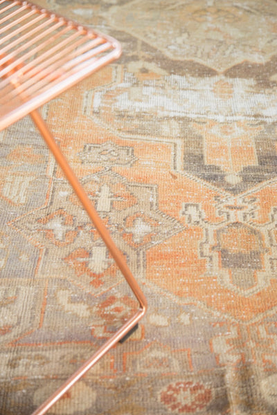 Vintage Distressed Oushak Rug / Item 4856 image 4