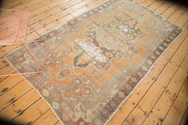 Vintage Distressed Oushak Rug / Item 4856 image 5