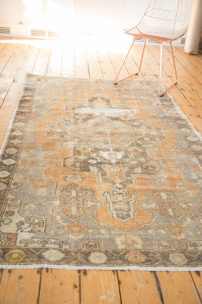 Vintage Distressed Oushak Rug / Item 4856 image 6