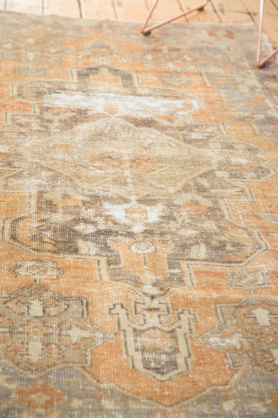 Vintage Distressed Oushak Rug / Item 4856 image 7