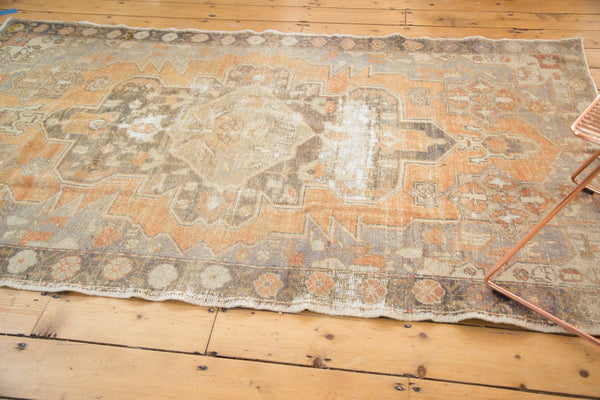 Vintage Distressed Oushak Rug / Item 4856 image 10