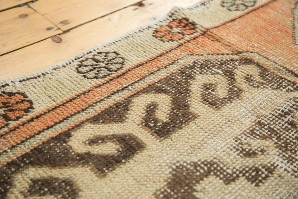 Vintage Distressed Oushak Rug Runner / Item 4893 image 4