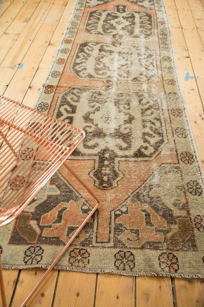 Vintage Distressed Oushak Rug Runner / Item 4893 image 6