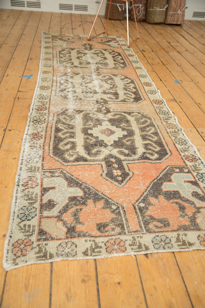 Vintage Distressed Oushak Rug Runner / Item 4893 image 7