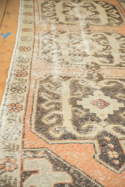 Vintage Distressed Oushak Rug Runner / Item 4893 image 8