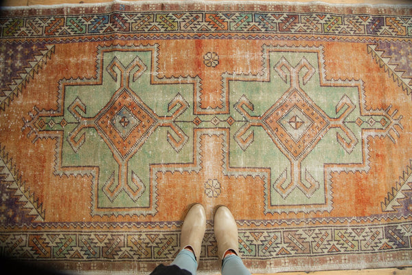 Vintage Distressed Oushak Rug / Item 4917 image 2