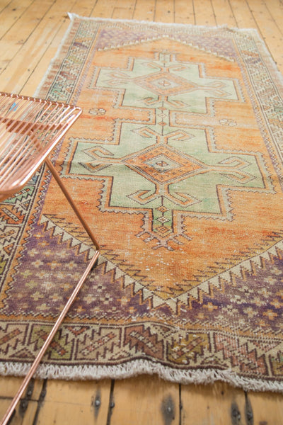 Vintage Distressed Oushak Rug / Item 4917 image 3