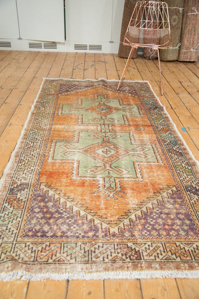 Vintage Distressed Oushak Rug / Item 4917 image 6