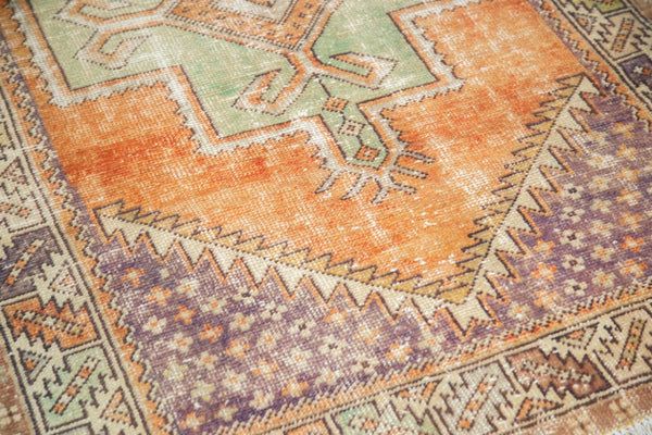 Vintage Distressed Oushak Rug / Item 4917 image 8