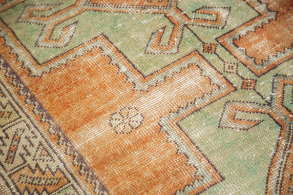Vintage Distressed Oushak Rug / Item 4917 image 10