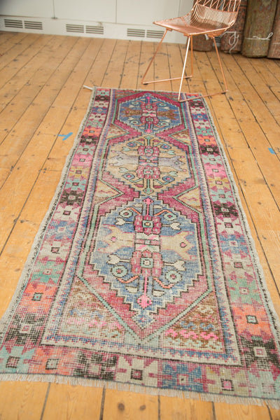 3x8 Vintage Distressed Oushak Rug Runner / Item 4921 image 4