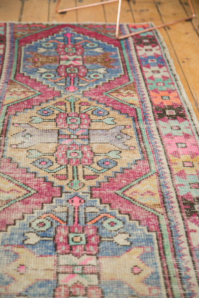 3x8 Vintage Distressed Oushak Rug Runner / Item 4921 image 5