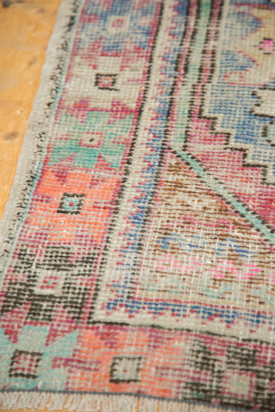 3x8 Vintage Distressed Oushak Rug Runner / Item 4921 image 6