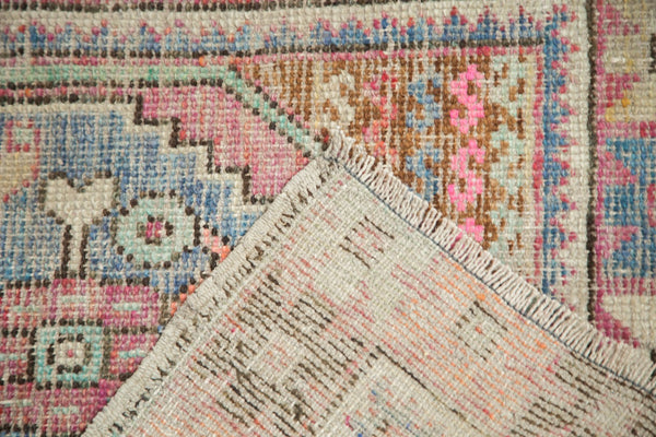 3x8 Vintage Distressed Oushak Rug Runner / Item 4921 image 8
