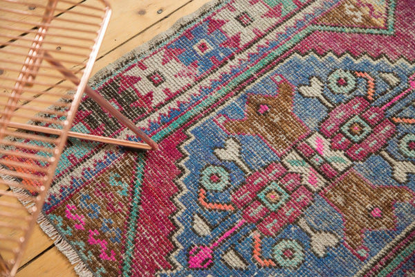 3x8 Vintage Distressed Oushak Rug Runner / Item 4921 image 9