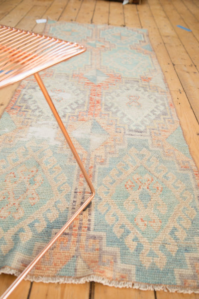 Vintage Distressed Oushak Fragment Rug Runner / Item 4926 image 3