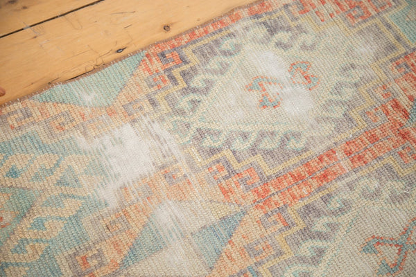 Vintage Distressed Oushak Fragment Rug Runner / Item 4926 image 5