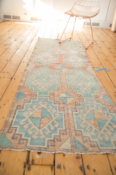 Vintage Distressed Oushak Fragment Rug Runner / Item 4926 image 6