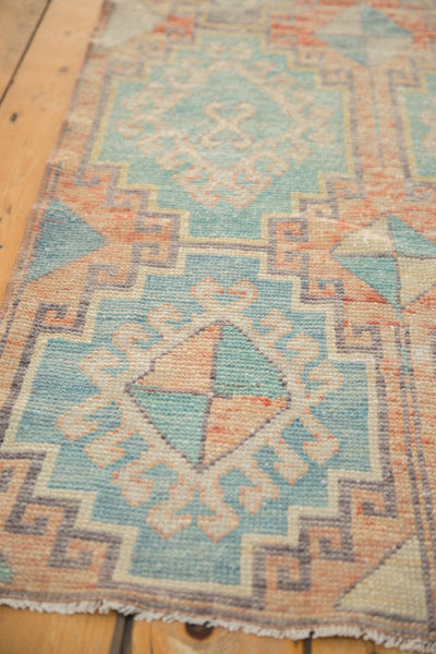 Vintage Distressed Oushak Fragment Rug Runner / Item 4926 image 7