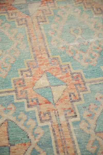 Vintage Distressed Oushak Fragment Rug Runner / Item 4926 image 8