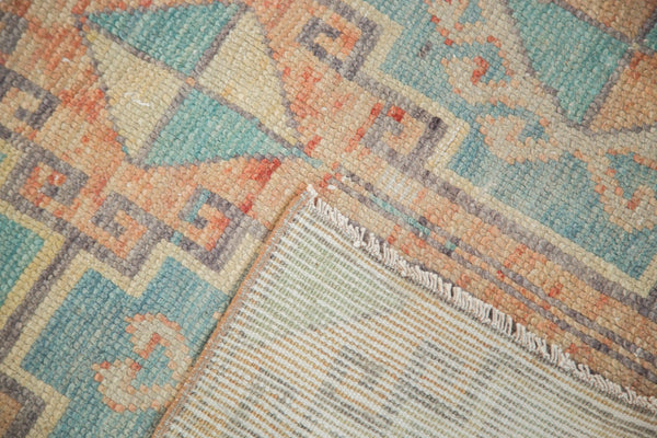 Vintage Distressed Oushak Fragment Rug Runner / Item 4926 image 9