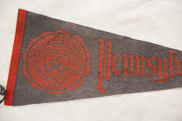 Vintage 1950s Pennsylvania University Large Felt Pennant