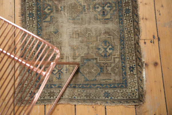 Antique Chi Chi Square Rug Mat / Item 4963 image 3
