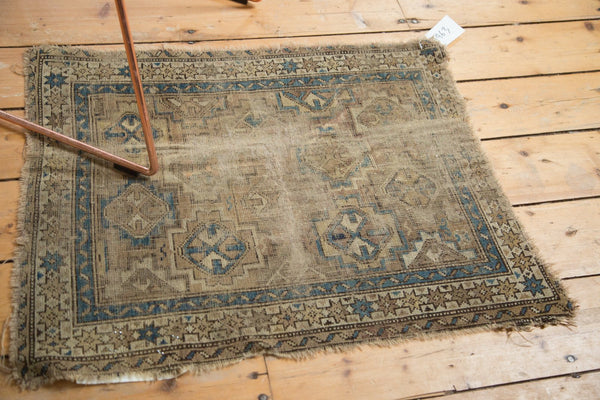 Antique Chi Chi Square Rug Mat / Item 4963 image 5
