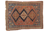 Antique Fine Afshar Square Rug
