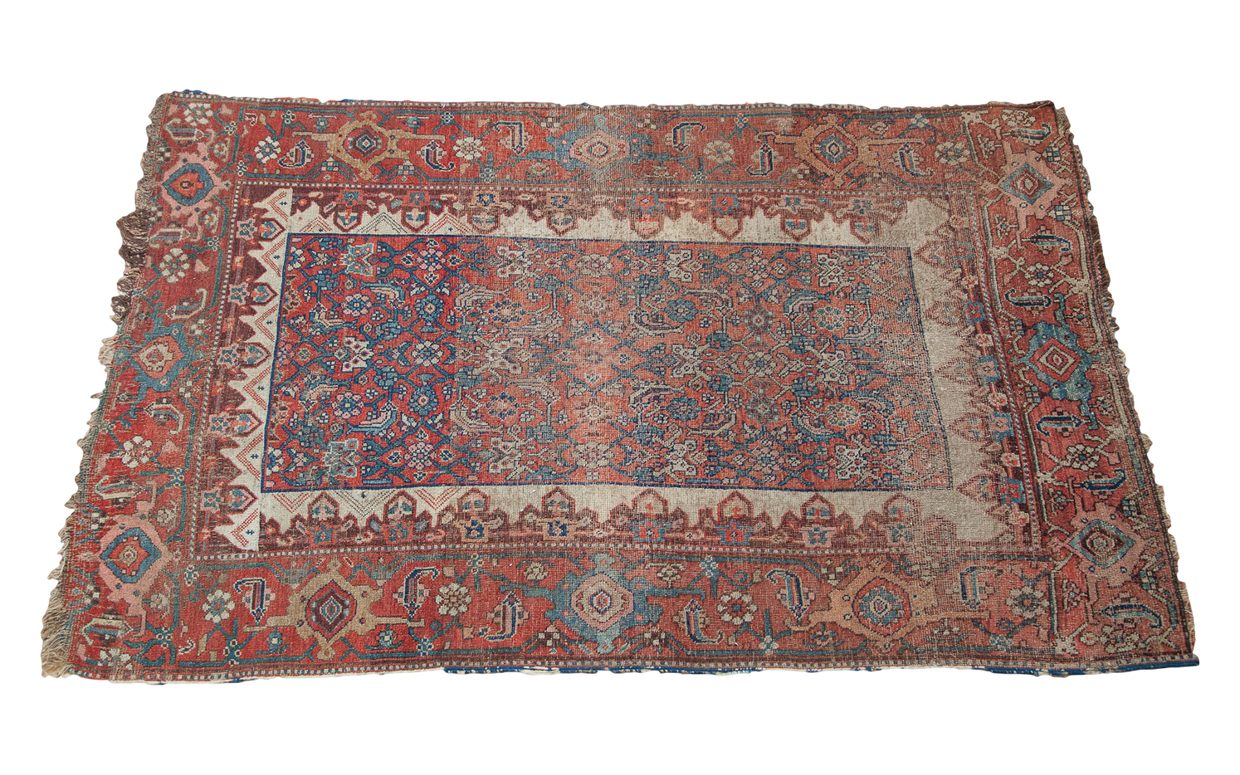 4x6 Worn Antique Bijar Rug - Old New House