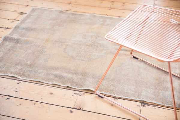 Vintage Distressed Oushak Rug / Item 5034 image 4