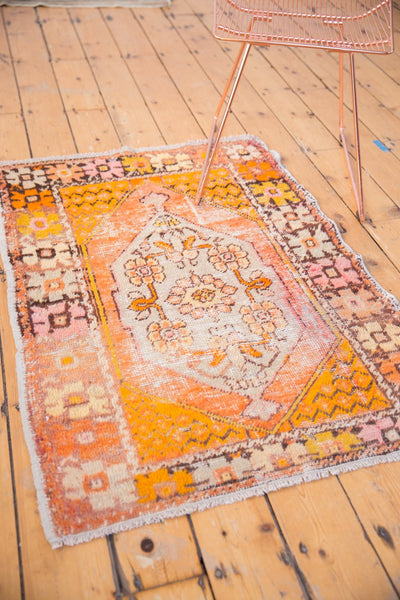 Vintage Distressed Oushak Square Rug / Item 5036 image 5