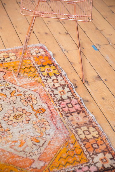 Vintage Distressed Oushak Square Rug / Item 5036 image 7