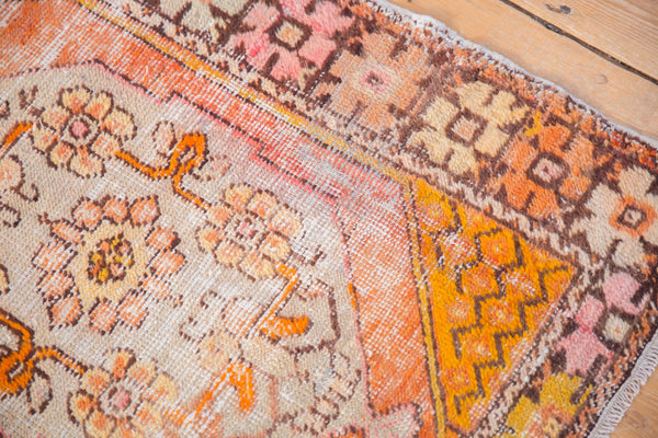Vintage Distressed Oushak Square Rug / Item 5036 image 8