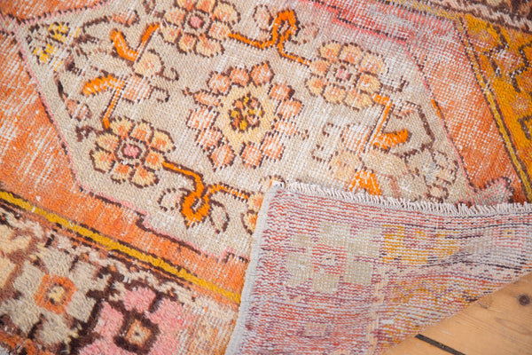 Vintage Distressed Oushak Square Rug / Item 5036 image 9