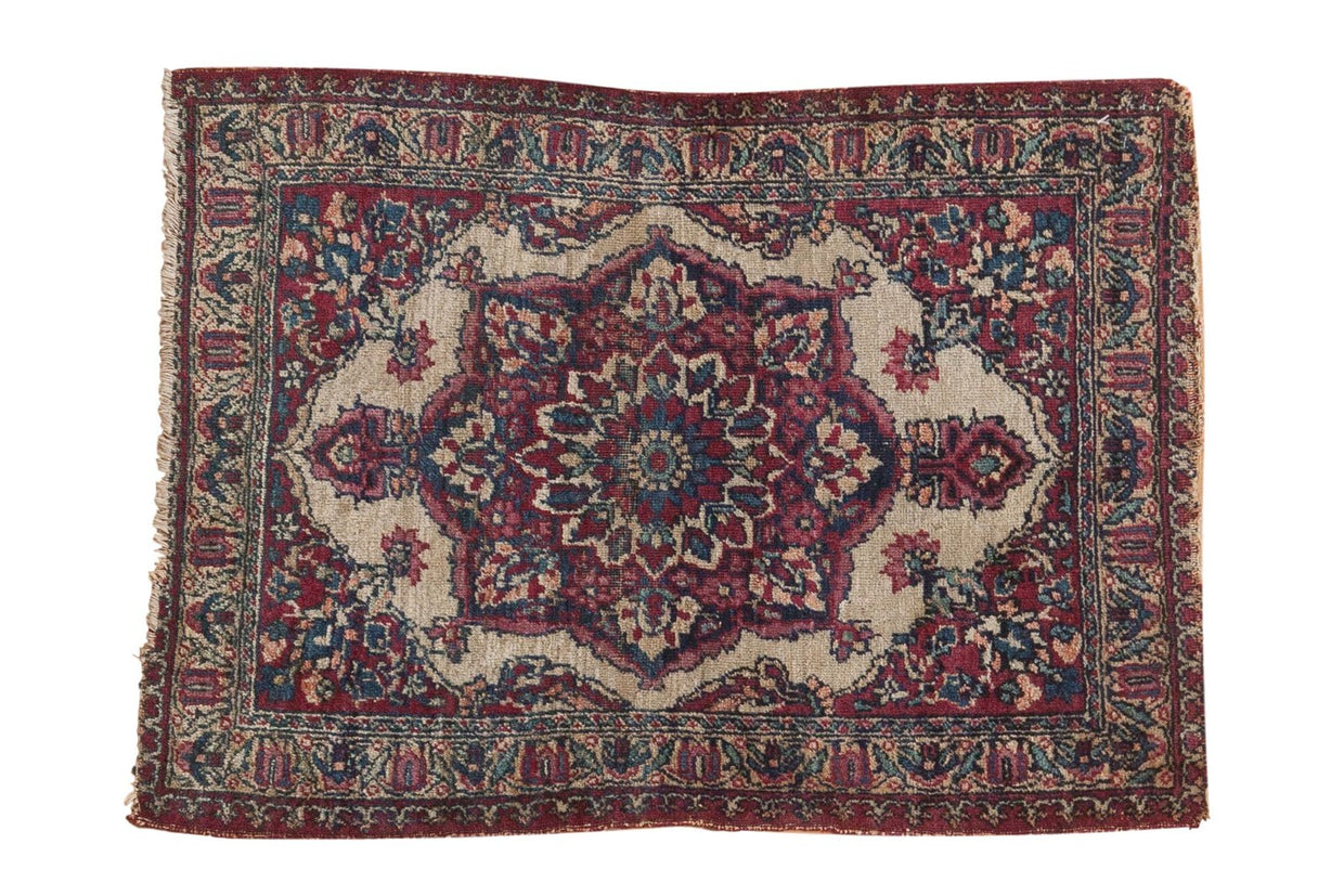2x2.5 Antique Kermanshah Square Rug Mat // ONH Item 5112
