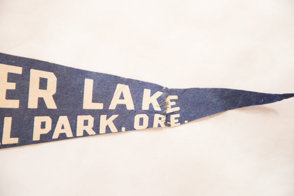 Crater Lake National Park, Ore. Vintage Felt Flag