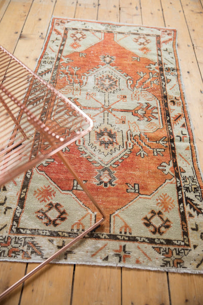 Vintage Distressed Oushak Rug Runner