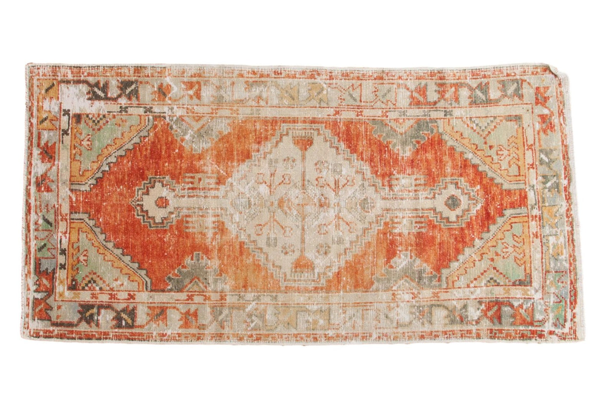 2.5x5 Vintage Distressed Oushak Rug Runner // ONH Item 5190