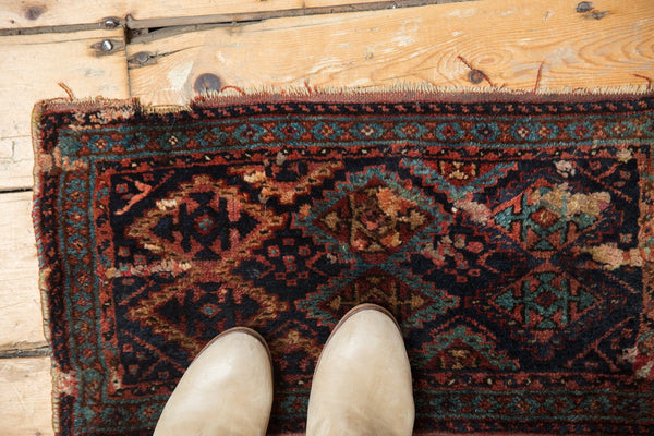 Antique Kurdish Fragment Rug Mat