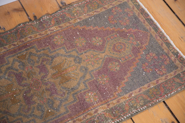 Vintage Distressed Oushak Rug Mat Runner / Item 5330 image 3