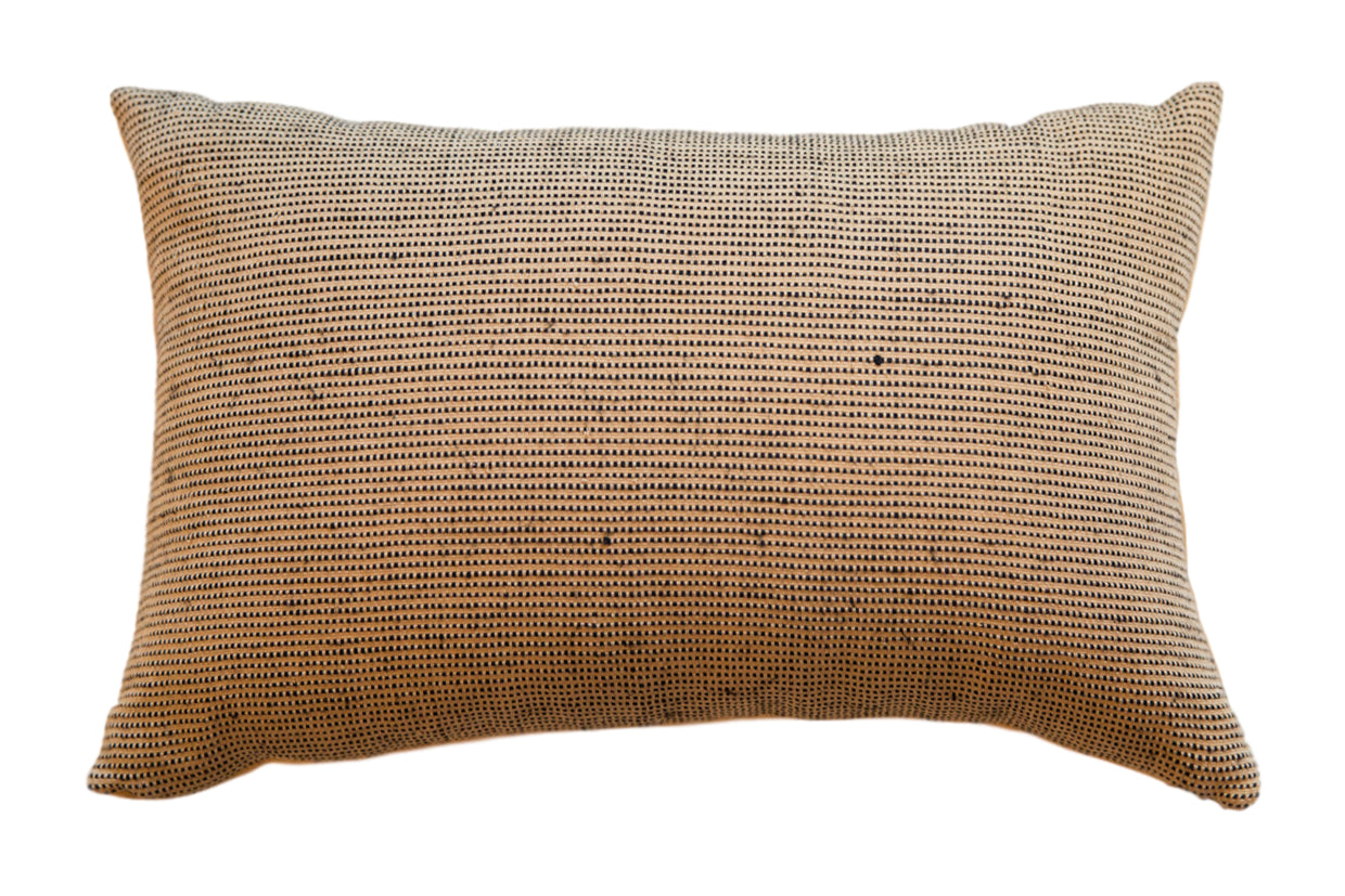 Reclaimed Remnant Black and Jute Pillow // ONH Item 5446