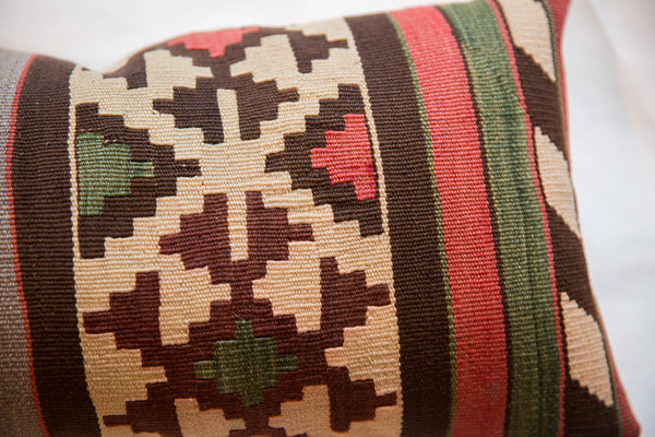 Reclaimed Antique Kilim Rug Fragment Pillow
