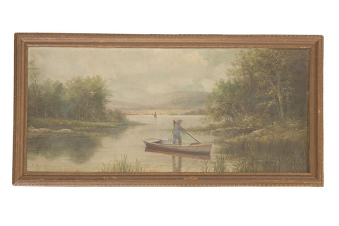 Antique Seascape Portait Painting