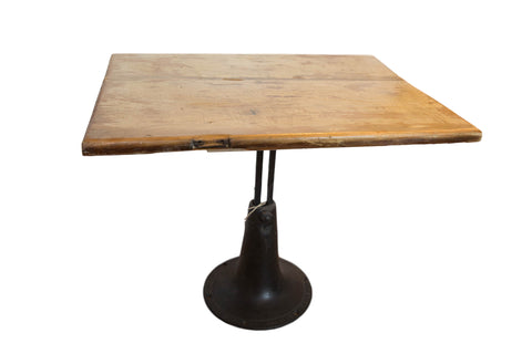 Vintage Wooden and Metal End Table // ONH Item 5459