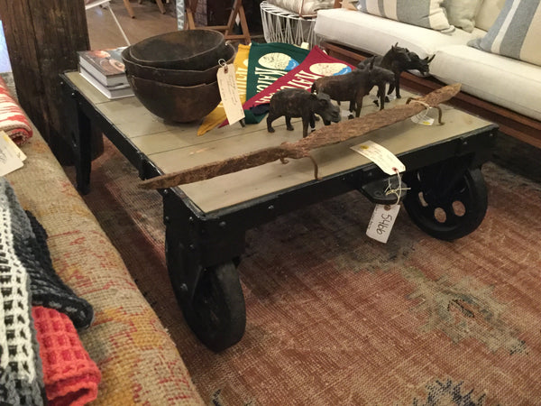 Black Cart Coffee Table