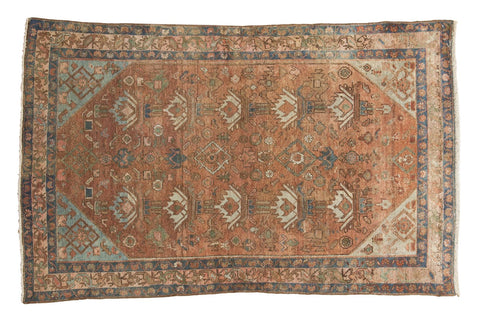 "4' x 6'1"" Vintage Distressed Malayer Rug / Item 5489 image 1"