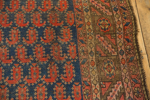 Antique Kurdish Square Rug