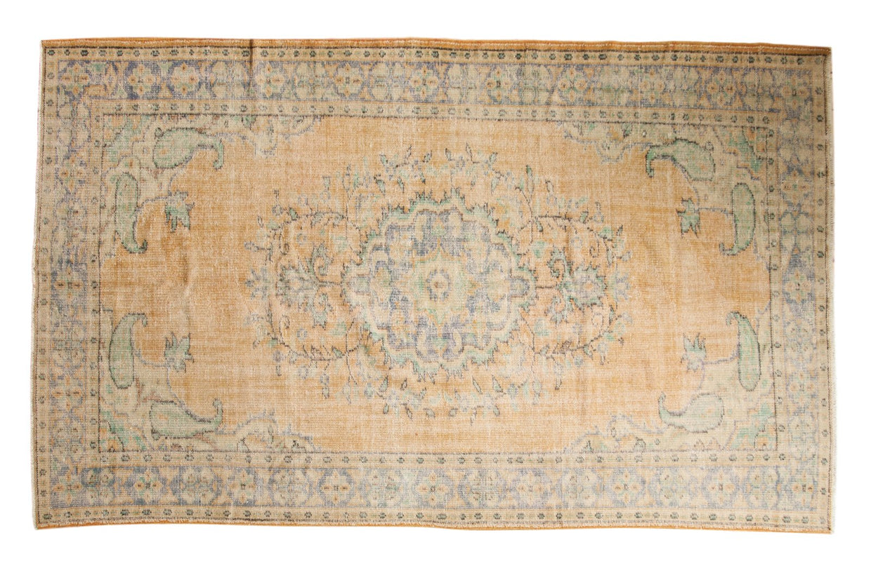 5.5x9.5 Vintage Distressed Oushak Carpet // ONH Item 5493