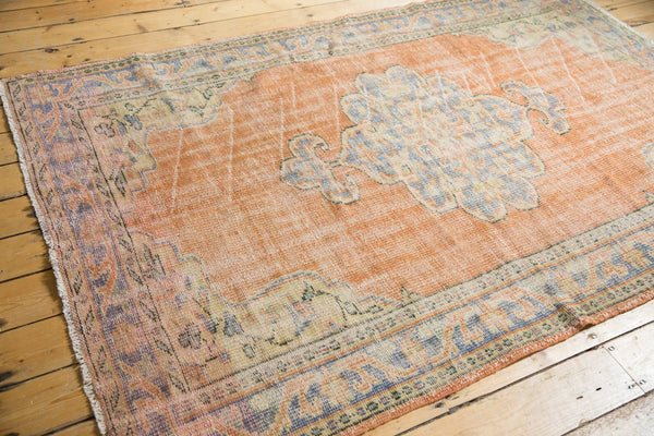Vintage Distressed Oushak Rug / Item 5494 image 3